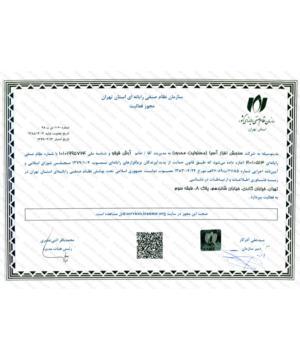 مجوز فعالیت سازمان نظام صنفی رایانه ای استان تهران